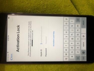 ICloud Locked IPhone 6 Plus