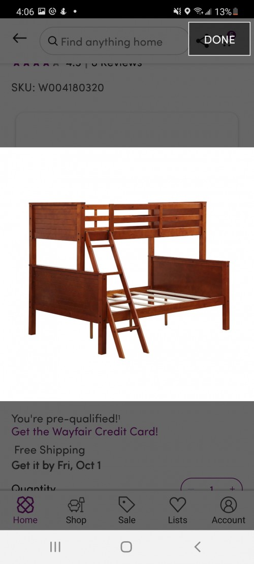 Bunk Bed Twin/Full (like New)