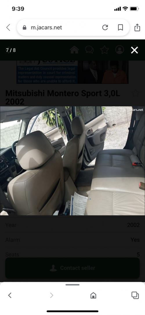 2002 Mitsubishi Montero