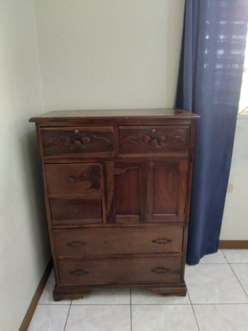 Bed, Sofa And Chest Of Drawers