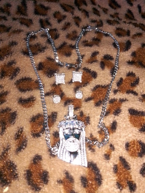 925 Sterling Sliver Chain And Earrings Set