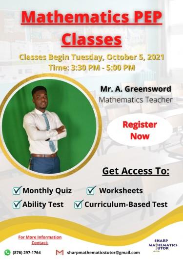 Mathematics PEP Classes