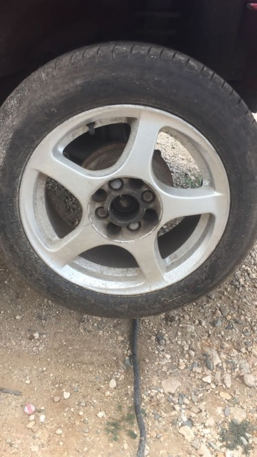 15 Inch Rims With Fairly New Tyres