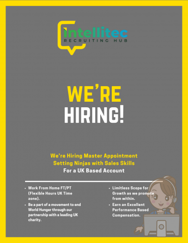 We're Hiring Master Appointment Setting Ninjas