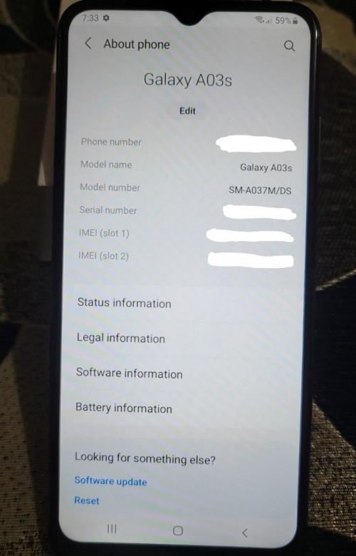 Samsung Galaxy AO3s