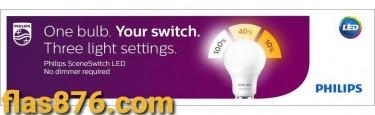Philips 9w 3 Setting SceneSwitch Energy Saving LED
