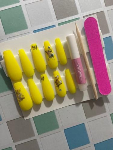 Matt Yellow Butterfly Pressons